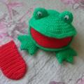Пособие-игрушка «Веселая лягушка»