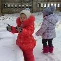 Занятие для детей первой младшей группы на прогулке. Зимние забавы