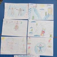 Конспект занятия по рисованию в подготовительной группе «Зимние забавы»