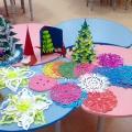 Выставка творческих работ родителей на тему «Новогодние украшения».