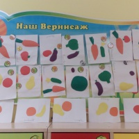 Аппликация «Овощи и фрукты» в средней группе