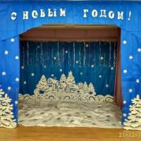 Оформление музыкального зала к новогодним праздникам