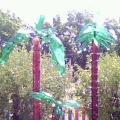 Оформление участка в детском саду «Пальма из пластиковых бутылок»