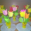 Тюльпаны для любимой мамы. Мастер-класс