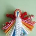 Традиционная народная тряпичная игровая кукла «Радуга»
