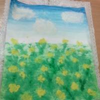 Мастер-класс для родителей с использованием нетрадиционной техники рисования. Рисование сжатой бумагой «Солнечная поляна»