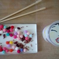 Дидактическая игра «Накорми Китайца» для развития мелкой моторики, закрепления счета и цвета