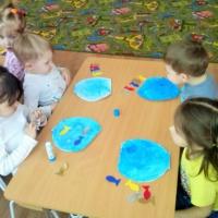 «Рыбки в аквариуме». Аппликация. Художественно-эстетическое развитие в детском саду
