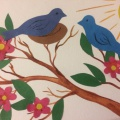 Коллективная работа с детьми старшего дошкольного возраста «Весна пришла»