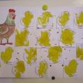 Конспект НОД по изодеятельности (рисование, коллективная композиция) «Курочка Ряба с цыплятами»