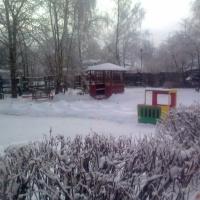 Оформление участка. Зима