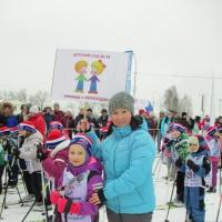 Фотоотчет «Дошколята детсада на всероссийских соревнованиях «Лыжня России-2018»