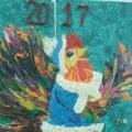 Коллективная работа в технике пластилинографии «Символ 2017 года— Петух»