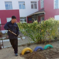 Фотоотчет о благоустройстве детской площадки