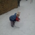 Фотоотчет «Как мы лепили снеговика»