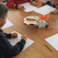 Конспект занятия по рисованию в технике пуантилизма «Осеннее дерево»
