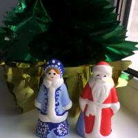 Мастер-класс по росписи игрушек из гипса «Дед Мороз и Снегурочка»