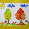 Нетрадиционная техника рисования. Рисование пеной для бритья «Осенний лес»