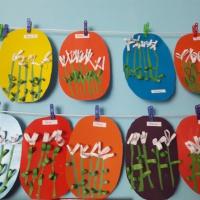 Фотоотчет о создании открытки с подснежниками «Весенние цветы»