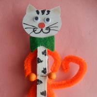 Мастер-класс для детей подготовительной группы «Изготовление поделки на прищепке «Котик»