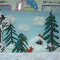 Мастер класс: изготовление макета «Дикие животные в зимнем лесу».