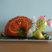 Фотоотчет о конкурсе-выставке поделок из овощей, фруктов и природного материала «Осенняя фантазия»