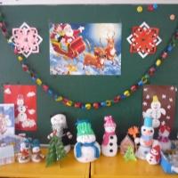 Фотоотчет. Выставка поделок «Самый лучший снеговик»