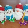 «Дед Мороз и Снегурочка». Мастер-класс изготовления мягких игрушек из флиса