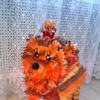 Мастер-класс изготовления игрушки из бумаги «Символ года «Собачка» на городскую елку