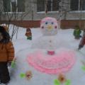 Оформление зимнего участка «Снежные фигуры для детских забав»
