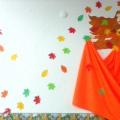 Оформление группы. Тематическая стена «Время года. Осень»
