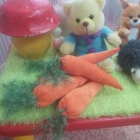 Мастер-класс по изготовлению мягкой игрушки из бархата «Морковка для зайчика»