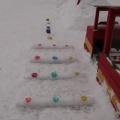 Зимнее оформление участка «Новый год с Пеппой Пиг»