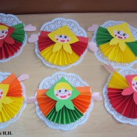 Детский мастер-класс «Кукла-Масленица из бумаги». 2 часть