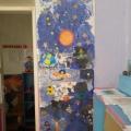 Коллективная работа детей младшей группы «Мы и космос»