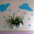 Использование потолочной плитки и салфеток в оформлении групповой комнаты