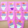 Мастер-класс «Изготовление открытки к 8 Марта с применением нетрадиционной техники рисования «штамповка картошкой»