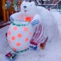 Веселое и забавное оформление прогулочных участков детского сада в зимнее время «Цирк Шапито!»