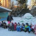 Фотоотчет «Снежные постройки на участке детского сада для зимних игр и забав детей. Лучшее оформление участка»