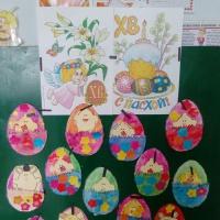 Выставка детских работ к празднику «Пасха» в средней группе