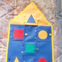 Дидактическое игровое пособие по сенсорике «Волшебный домик»