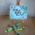 Мастер-класс «Поздравительная открытка к 8 Марта» (Вышивка)