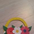 Мастер-класс по изготовлению аппликации «Корзина с цветами в подарок маме на 8-е Марта!»