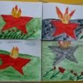 Фотоотчёт о творчестве детей ко Дню Победы