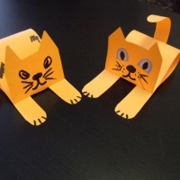 Мастер-класс для детей средней группы по изготовлению игрушки из бумаги «Кошка»