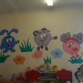 Оформление групповой комнаты в стиле любимого детского мультфильма «Смешарики»