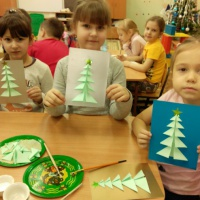 «Елочка». Мастер-класс по изготовлению новогодней открытки «оригами»