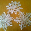 «Снежинки» из бумаги. Мастер-класс