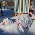 Зимнее оформление участка детского сада