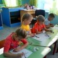 Нетрадиционная техника рисования «Кляксография «в старшей разновозрастной группе» Весеннее дерево»